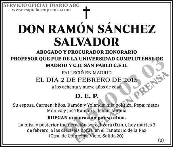 Ramón Sánchez Salvador